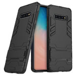 Slim Armour Tough Shockproof Case Stand for Samsung Galaxy S10 - Black